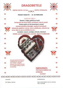 Dragobete- proiect ed 2015