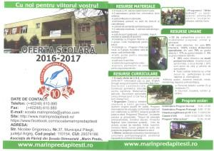 Ofertă educațională 2016-2017
